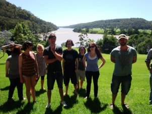 The 2010 Fresh Ink National Studio cohort at aptly-named Riversdale. Photo by Jessica Bellamy